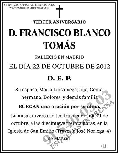 Francisco Blanco Tomás